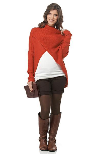 Moda Gestante - Pullover Tereza, Regata Rib e Bermuda Ilhabela - Maria Barriga