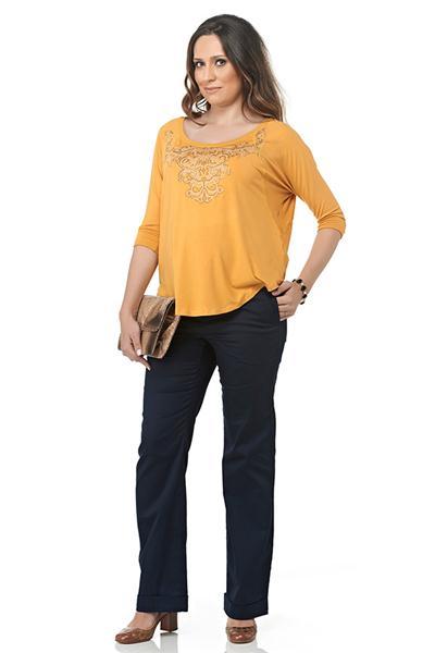 Moda Gestante - Blusa Grazi e Calça Ilhabela - Maria Barriga