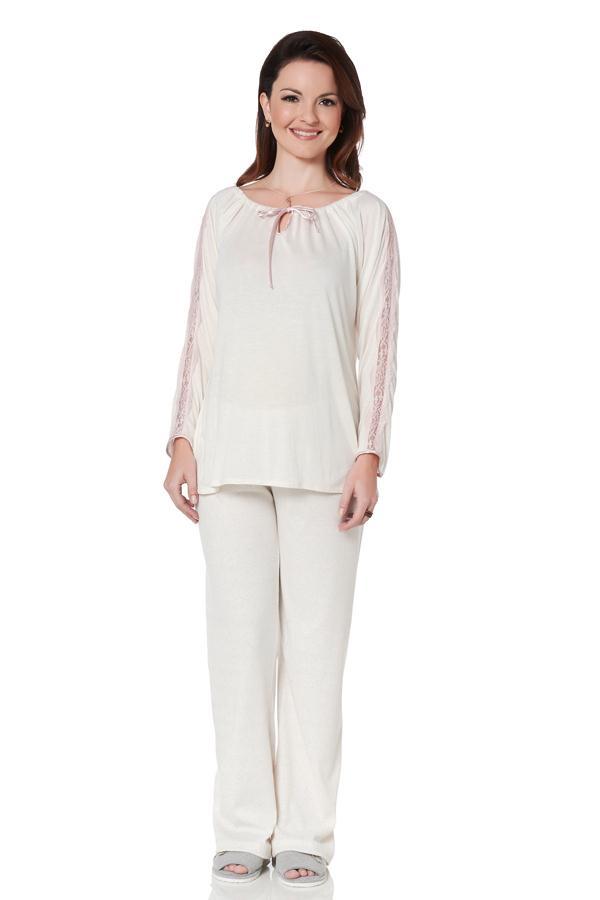 pijama detalhe renda em cole es de moda gestante da maria barriga