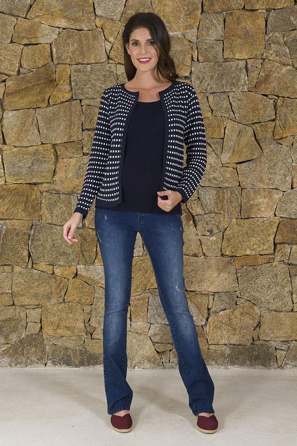 ee022de6f01786 Moda Gestante - Jeans para Gestante - Modelo: Calça Punho Jeans ...